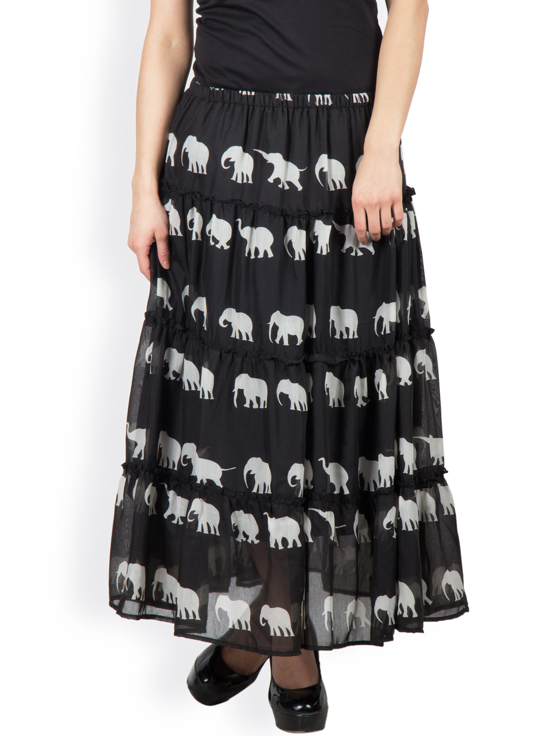 e0689f772a Skirt » special elephant print cotton layered skirt with lining and elasticated  waist. triumph