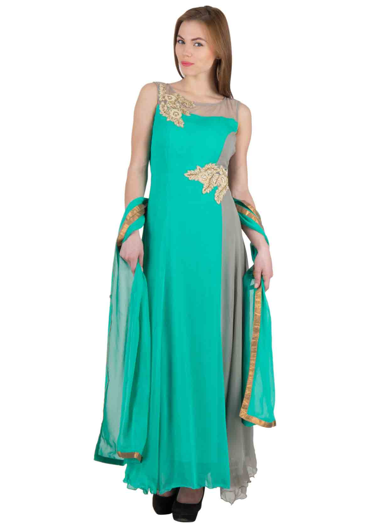 67d878aef5 triumph. Loading zoom. Roll over image to zoom in. Stylish 3 pc floor  length anarkali style ...
