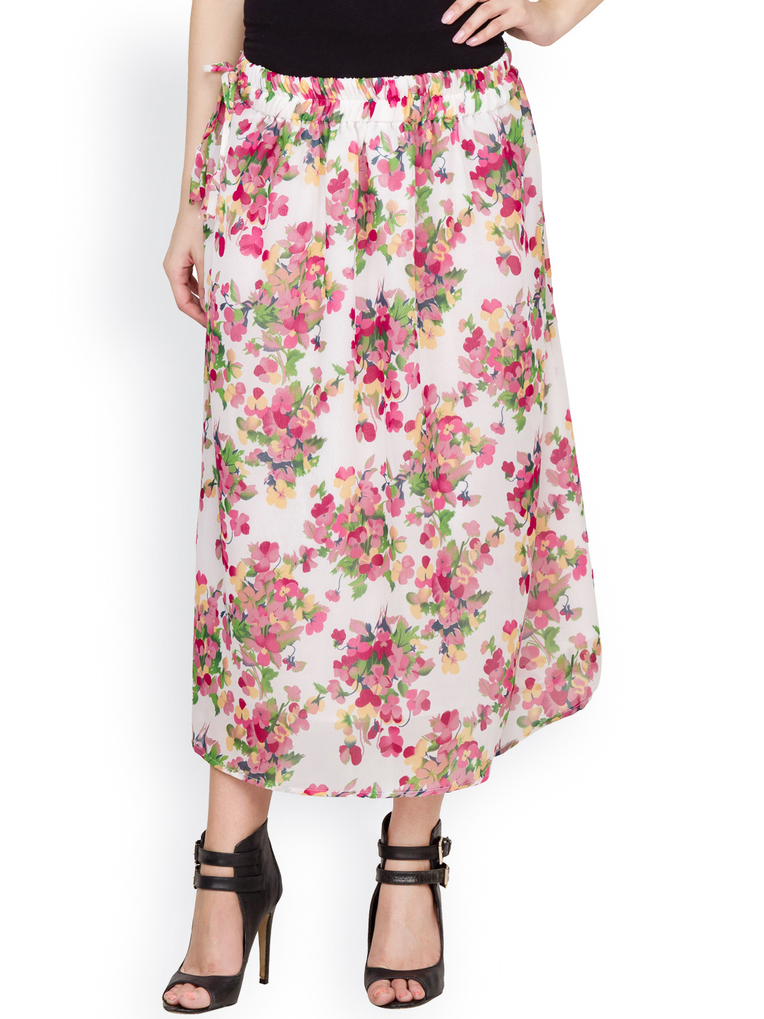 54d2f22518 ... Print Georgette Skirt with Elasticated Waist and cotton lining. triumph